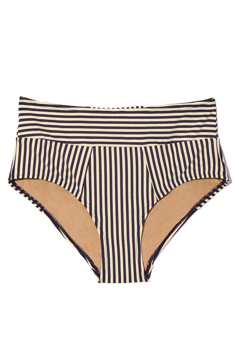 cea7a11c1 MARLIES DEKKERS Holi Vintage High Waist Briefs Bikini Bottom - Blue Ecru Bikini  Bottom