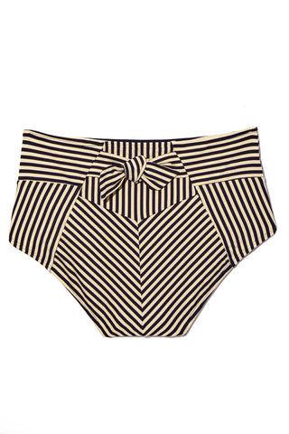 b42b3b303 ... MARLIES DEKKERS Holi Vintage High Waist Briefs Bikini Bottom - Blue  Ecru Bikini Bottom