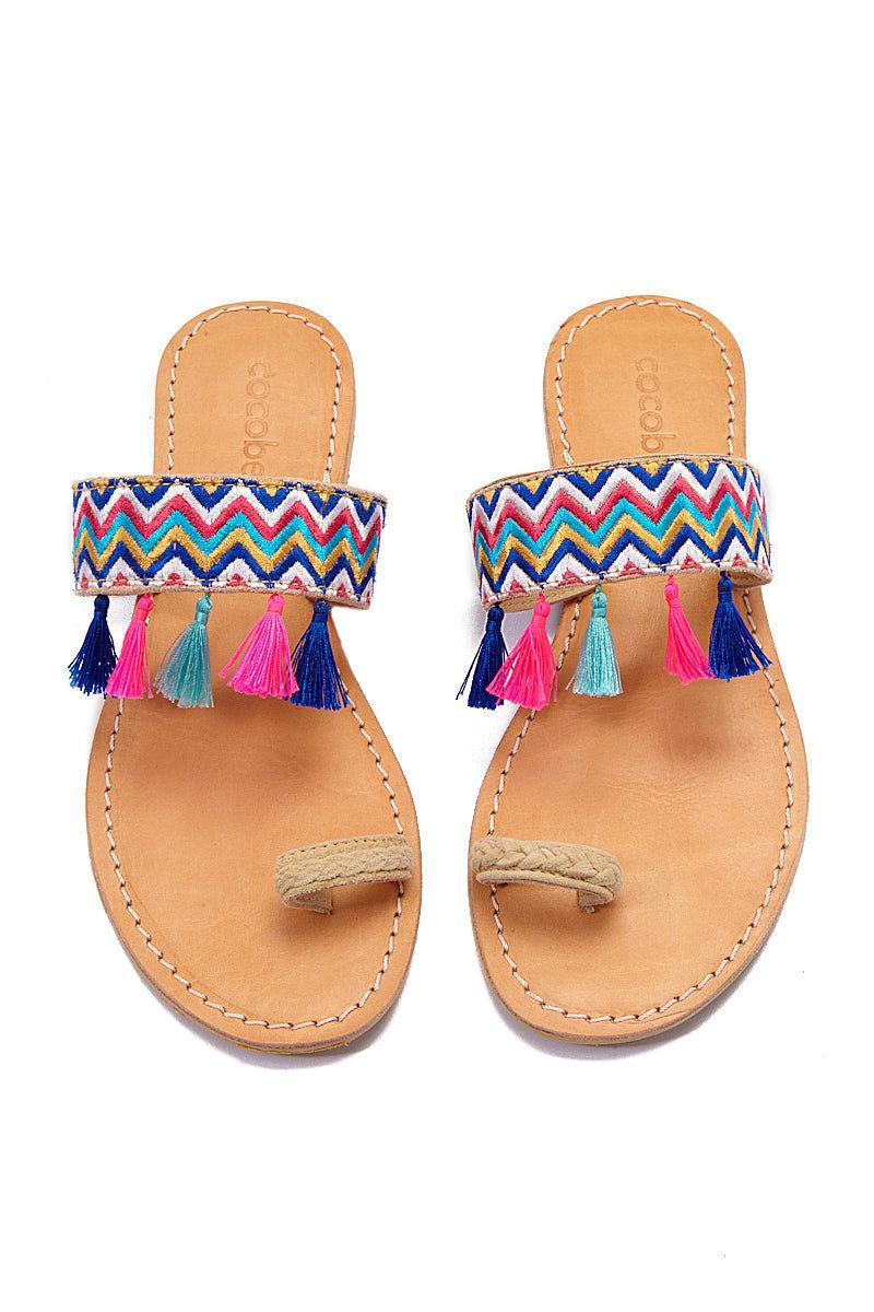 COCOBELLE Fez Sandals  - Wave Sandals | Wave| CocoBelle Fez Sandals Front View