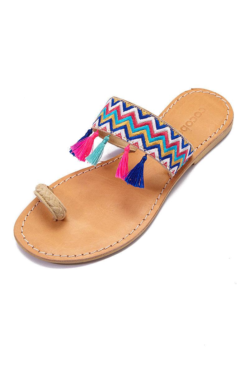 COCOBELLE Fez Sandals  - Wave Sandals | Wave| CocoBelle Fez Sandals Top View