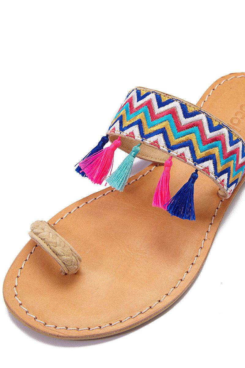 COCOBELLE Fez Sandals  - Wave Sandals | Wave| CocoBelle Fez Sandals Detail View
