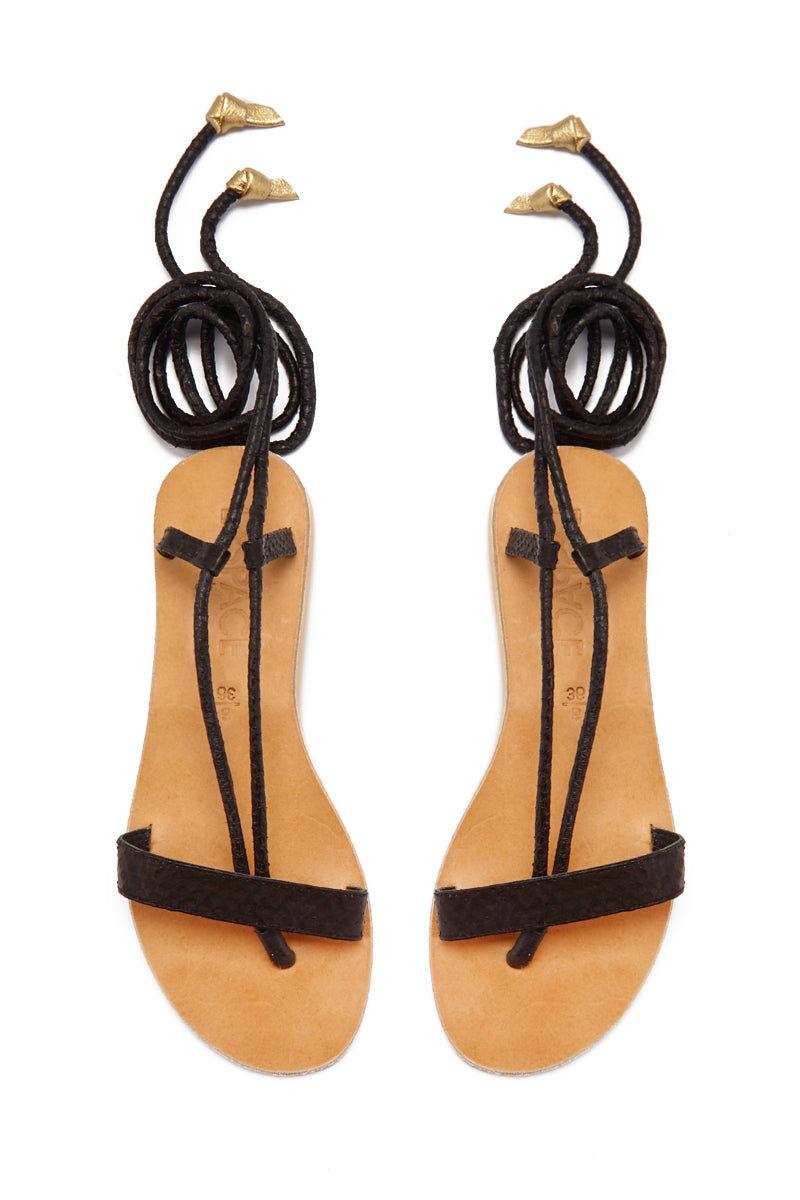 COCOBELLE Rio Sandals  - Black Sandals | Black| CocoBelle Rio Sandals Front View