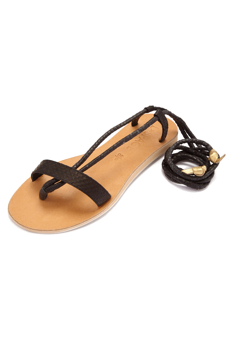 COCOBELLE Rio Sandals  - Black Sandals | Black| CocoBelle Rio Sandals Side View