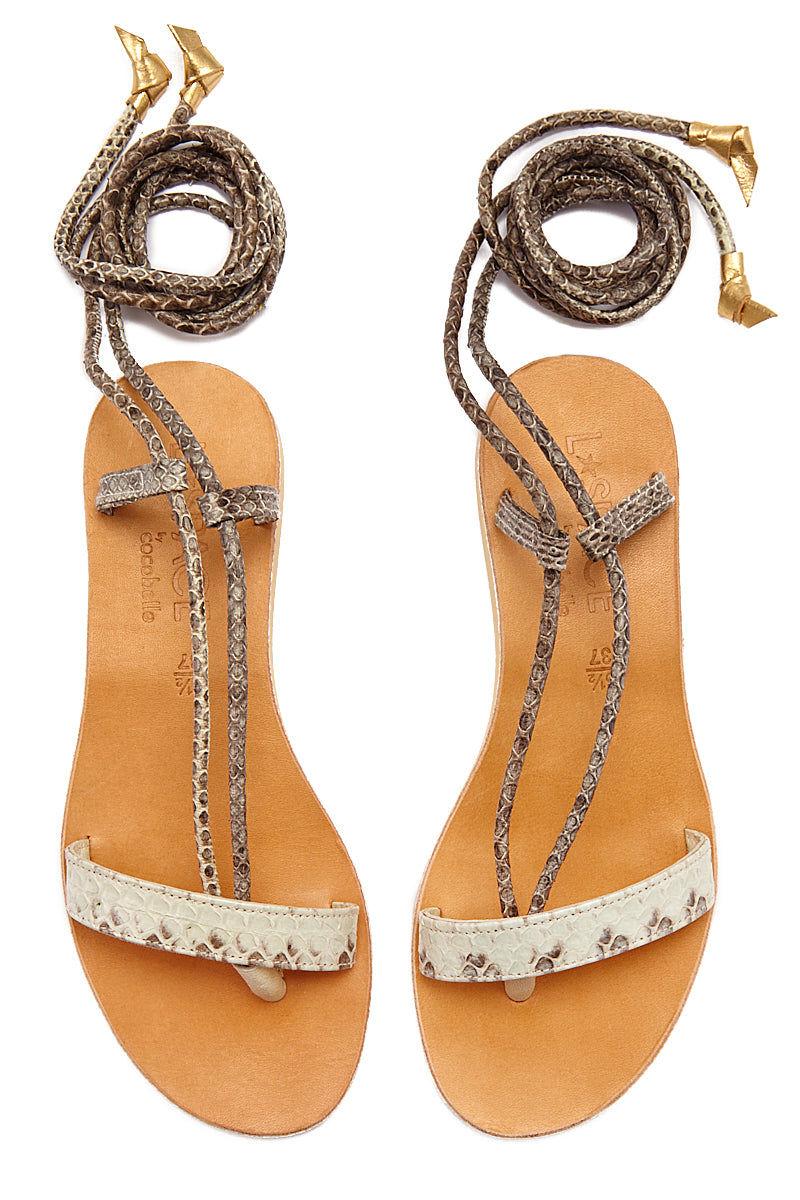 COCOBELLE Rio Sandals  - Natural Sandals | Natural| CocoBelle Rio Sandals Front View