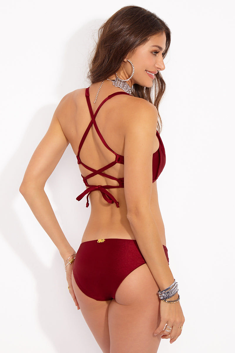 BEACHCANDY Cassidy Simply Hipster Bottom - Besame Bikini Bottom | Besame| Beach Candy Cassidy Simply Hipster Bottom - Besame Back View