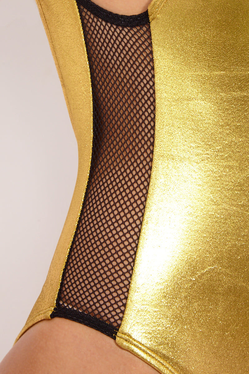 STELLAR DUST Moorea One Piece - Gold One Piece | Gold| Stellar Dust Moorea One Piece - Gold Close Up Detail  View