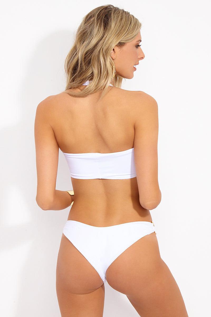 L SPACE Dana Bikini Bottom - White Bikini Bottom | Dana Bikini Bottom - White