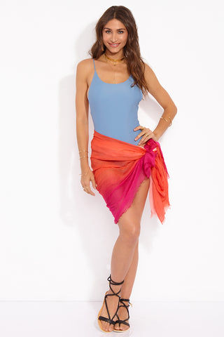 BLUE PACIFIC Coral Dream Sarong Cover Up | Coral & Pink| BLUE PACIFIC Coral Dream Sarong