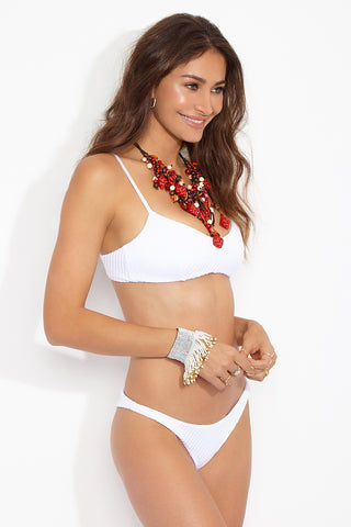 FELLA Julius Top - White Bikini Top | White|Julius Top Features:  Italian Textured Lycra Back clasp Fits true to size