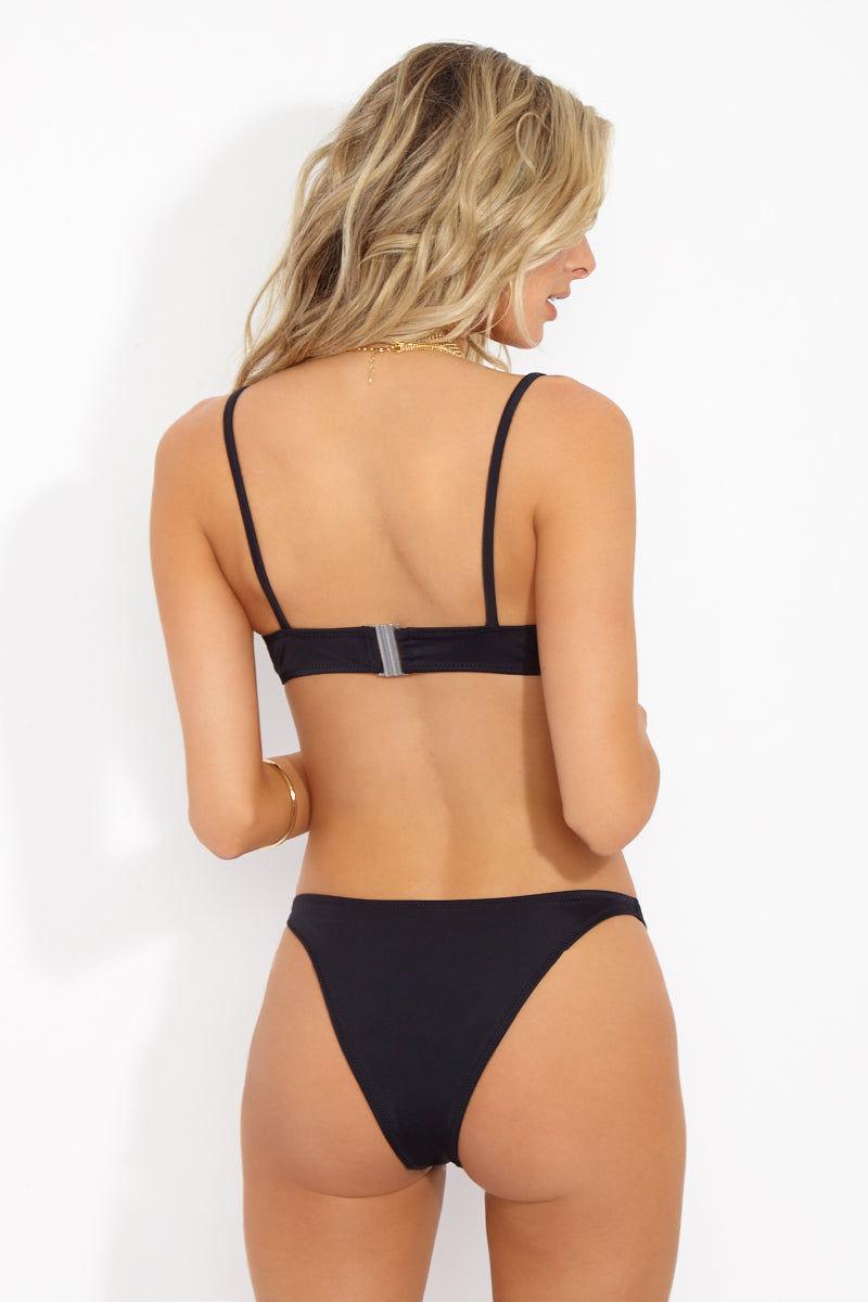 SOLID & STRIPED The Elsa Bralette Bikini Top - Black Bikini Top | Black| Solid & Striped The Elsa Bralette Top- Black Back View