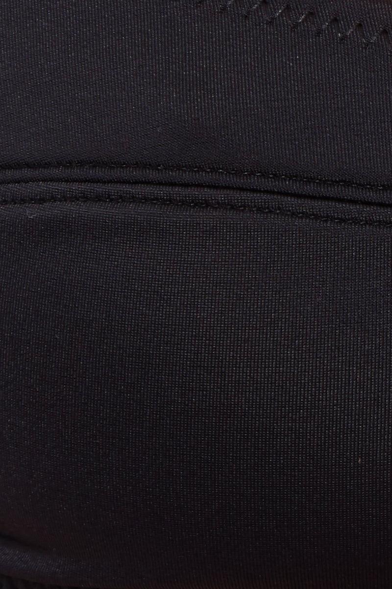 SOLID & STRIPED The Elsa High Cut Bikini Bottom - Black Bikini Bottom |  Black| Solid & Striped The Elsa High Cut Bottom - Black Close Up View