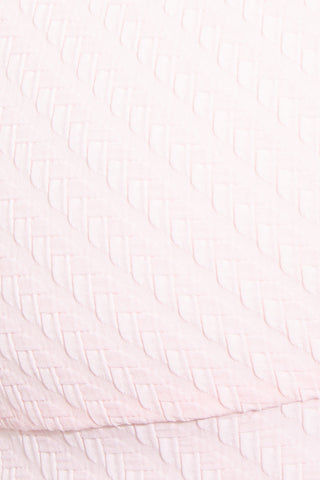 SOLID & STRIPED The Madison Mid Rise Bikini Bottom - Pink Basket Weave Bikini Bottom | Pink Basket Weave|Solid & Striped The Madison Bottom - Pink Basket Weave Detail View
