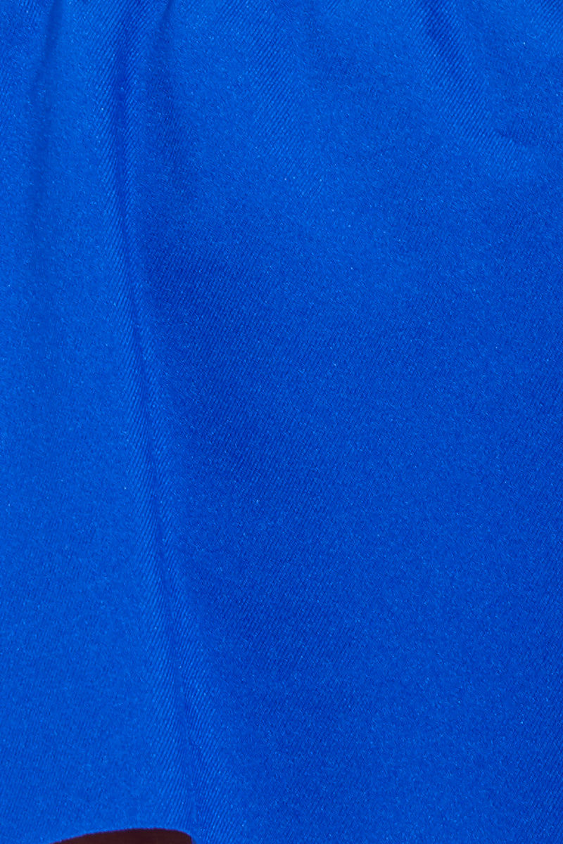MAYLANA Kara Bottom - Electric Blue Bikini Bottom   Electric Blue  Maylana Kara Detail View Bottom Mid-Rise Hipster Style Bikini Bottom Cheeky Coverage