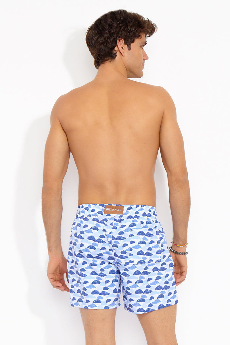 """BROWNLEE Peter Classic Stretch Boardshorts - Indigo Mens Swim 