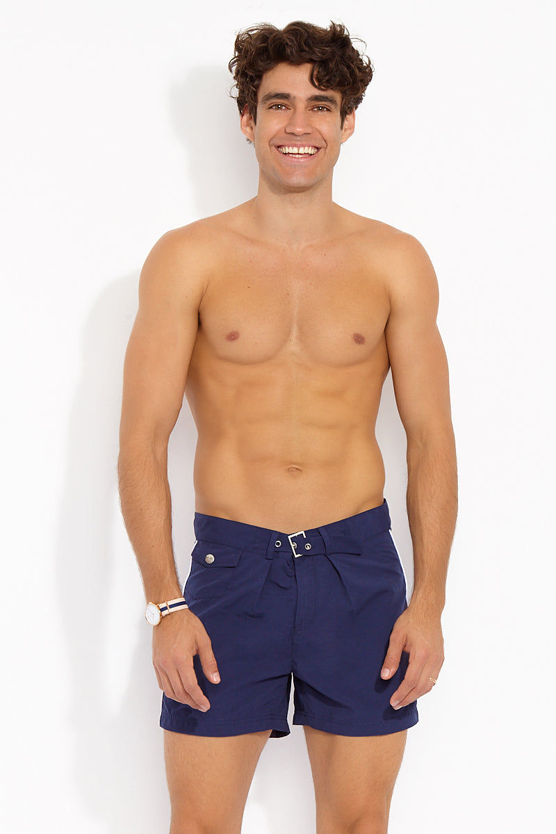 e1987998110c4 J.LIN Sailor Mid Length Swim Trunks - Classic Navy Mens Swim | Classic Navy  ...