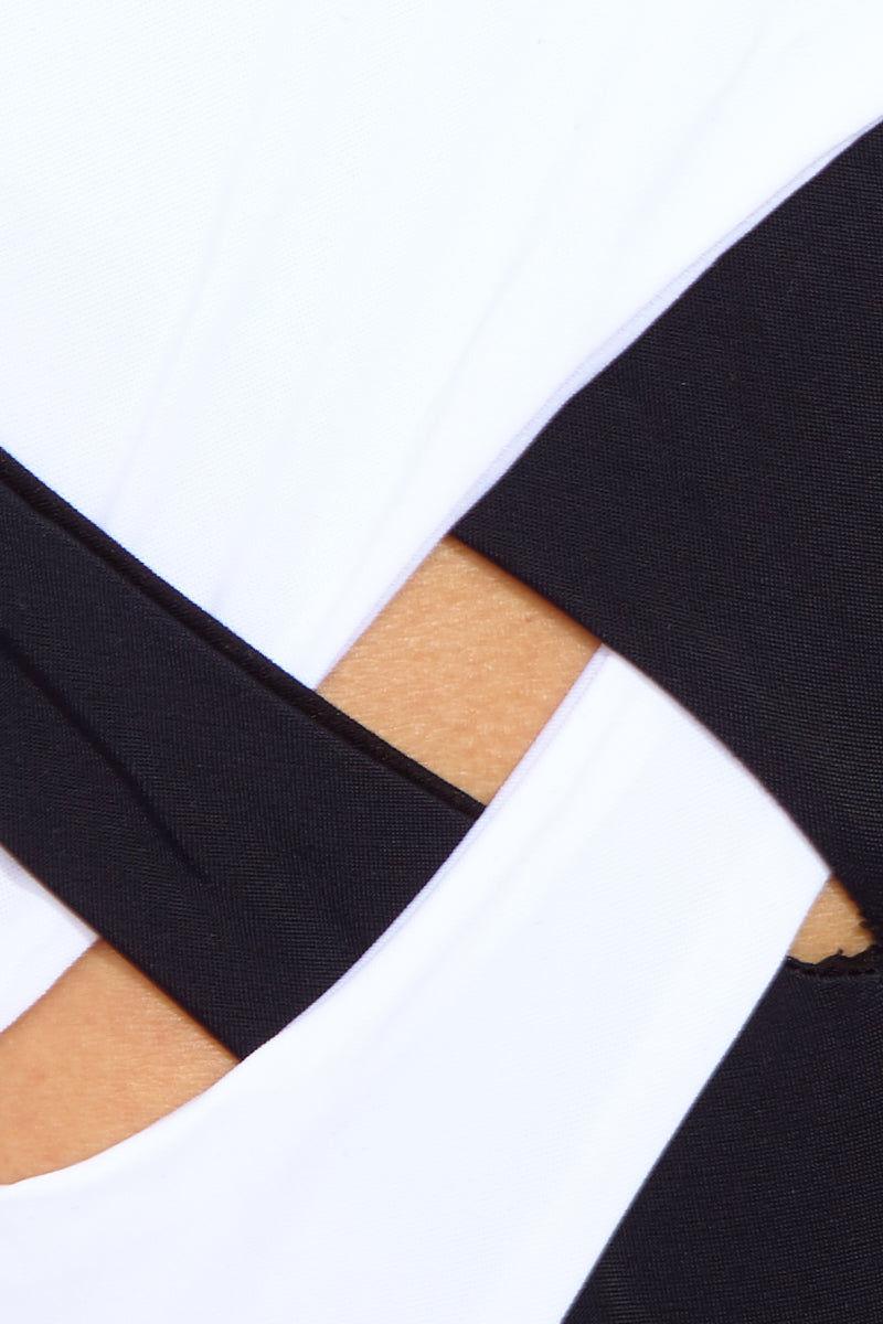 MOEVA Pauline One Piece - Black/White One Piece | Black/White| MOEVA Pauline One Piece Detail View