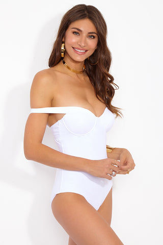 MOEVA Alexandra One Piece - White One Piece | White| MOEVA Alexandra One Piece Side View