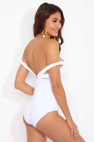 MOEVA Alexandra One Piece - White One Piece | White| MOEVA Alexandra One Piece Back View
