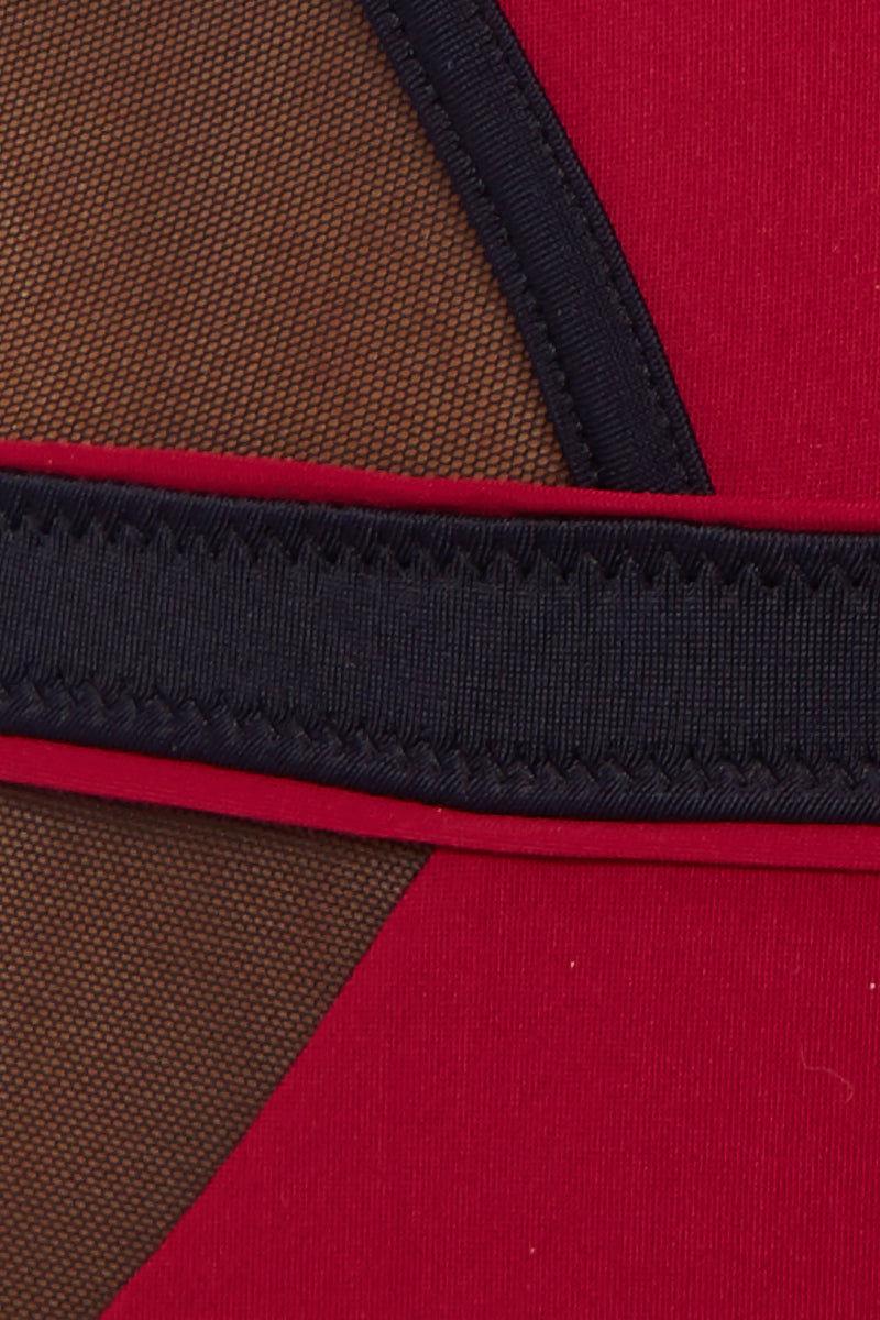 MOEVA Bordeaux Sydney One Piece - Black/Red One Piece | Black/Red| MOEVA Bordeaux Sydney One Piece Detail View