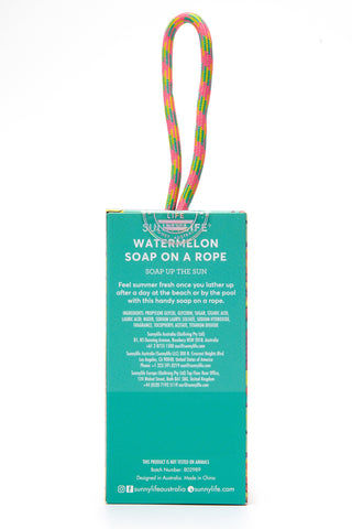 SUNNYLIFE Watermelon Soap on a Rope Beauty | Watermelon Soap on a Rope