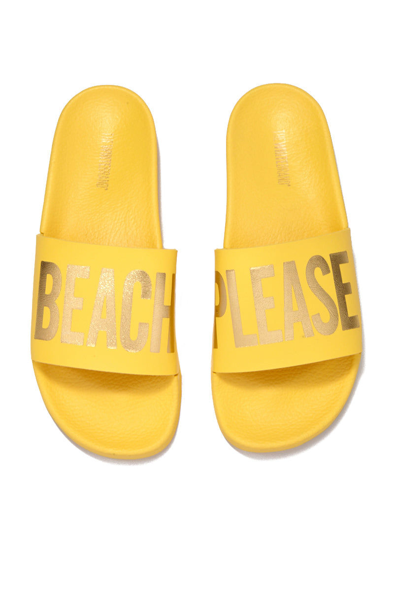 "THE WHITEBRAND Beach Please Minimal Sandals - Yellow Sandals | Yellow|Beach Please Minimal Sandal (Women's) - Yellow. Outsole: polyurethane rubber Height: 2"" platform"