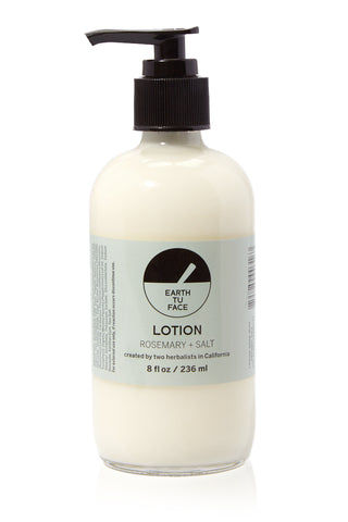 EARTH TU FACE Organic Rosemary Lotion - 8 oz Beauty | EARTH TU FACE Rosemary Lotion - 8 oz Organic Body Lotion infused with botanicals . The light, invigorating scent is inspired by fresh plants and salty ocean air.