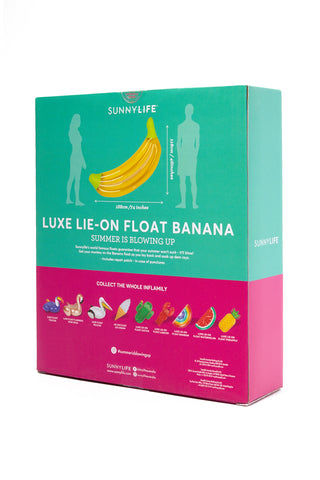 SUNNYLIFE Luxe Lie-On Float - Banana Pool Accessories | banana|