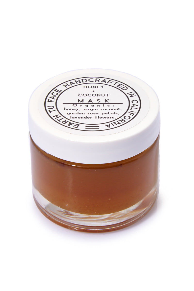 EARTH TU FACE Honey + Coconut Mask - 2 oz Beauty | EARTH TU FACE Honey + Coconut Mask - 2 oz A fusion of antioxidant-rich raw honey, coconut, rose petals and lavender buds. These work deep to heal inflammation, tighten pores, plump the skin and give an instant glow.