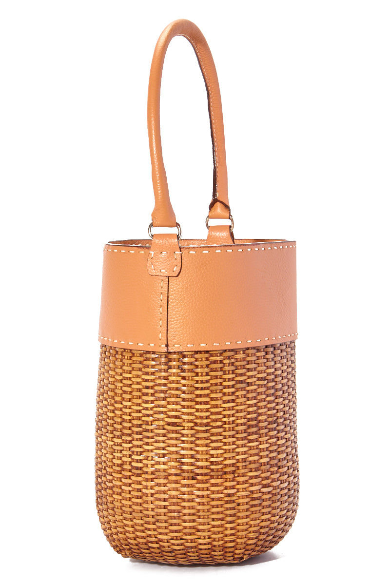 """KAYU Lucie Bucket Tote - Blush/Natural Bag 