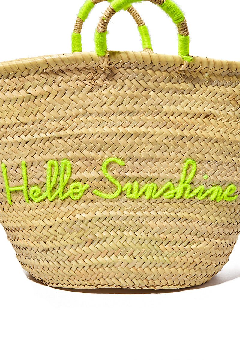 """POOLSIDE Large Straw Tote - Hello Sunshine Bag 