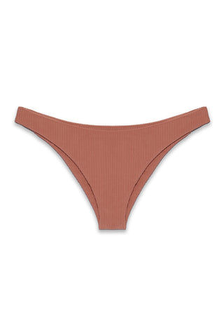 ISSA DE' MAR Byron Bottom - Rose Rib Bikini Bottom | Rose Rib| Issa De' Mar Byron Bottom - Rose Rib Flatlay View French Cut Minimal Coverage  High Cut Leg Ribbed Fabric  Hand Wash
