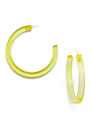 INK + ALLOY Lucite Hoop Earrings - Chartreuse Jewelry | INK + ALLOY Lucite Hoop Earrings - Chartreuse