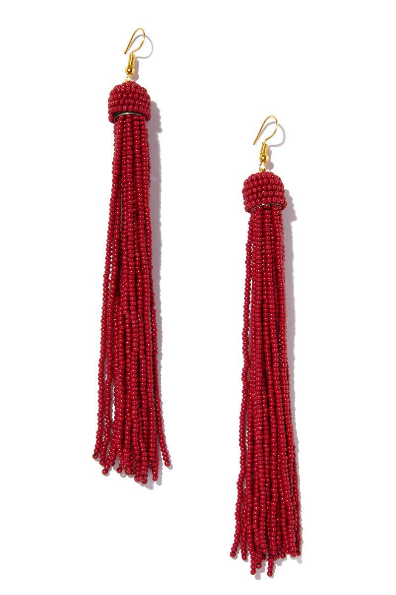 INK + ALLOY Tassel Earrings - Red Jewelry | Tassel Earrings - Red