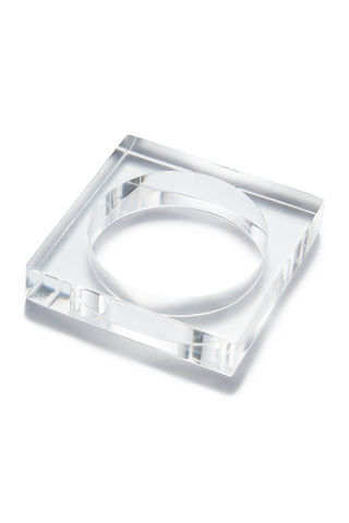 INK + ALLOY Lucite Square Bangle - Clear Jewelry | Lucite Square Bangle - Clear Features:  Acrylic Square Bangles Transparent clear