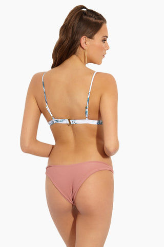 ISSA DE' MAR Byron Bottom - Rose Rib Bikini Bottom | Rose Rib| Issa De' Mar Byron Bottom - Rose Rib Back View French Cut Minimal Coverage  High Cut Leg Ribbed Fabric  Hand Wash