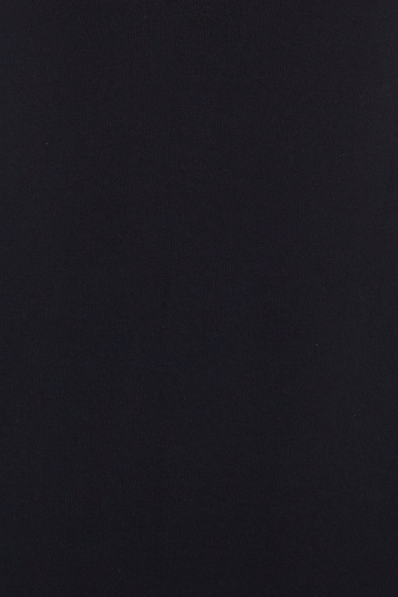 BEACH JOY Choker High Neck One Piece - Licorice One Piece | Licorice|Choker High Neck One Piece - Licorice. Detail View.  Features:  Keyhole cutout black one piece Choker style high neckline Halter string tie detail Deep plunge cutout detail