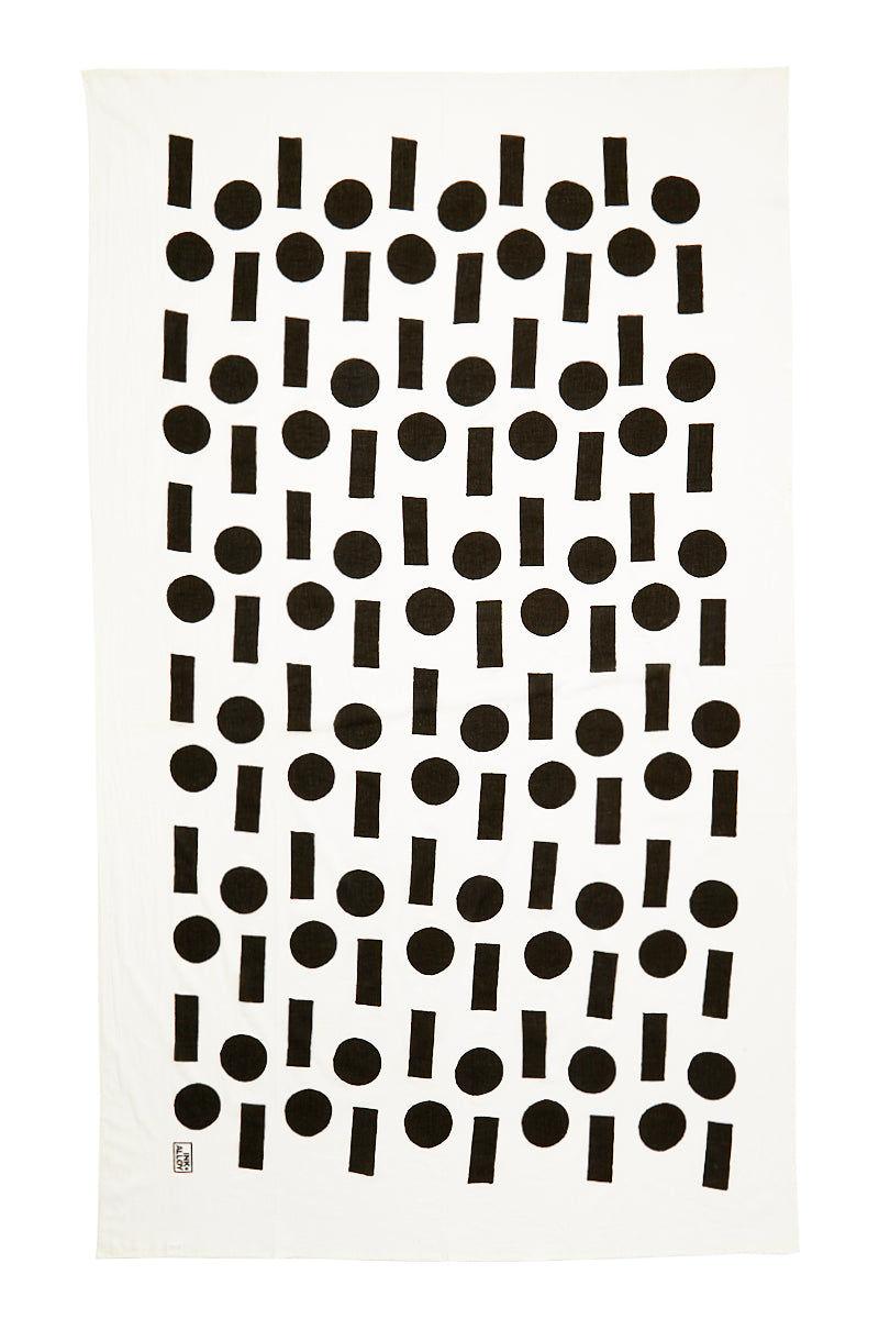 INK + ALLOY Block It Scarf - SOS Black & White Accessories | Block It Scarf - SOS Black & White Flat Lay View