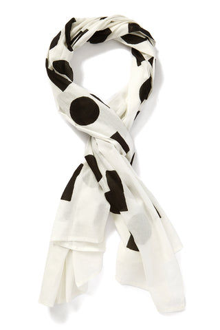 INK + ALLOY Block It Scarf - SOS Black & White Accessories | Block It Scarf - SOS Black & White