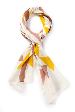 INK + ALLOY Block It Scarf - Jaipur Pink & Yellow Accessories | Block It Scarf - Jaipur Pink & Yellow