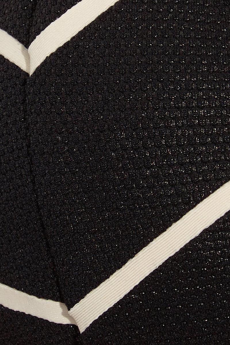 TAVIK Lea Top - Glossy Pique Bikini Top   Glossy Pique  Tavik Lea Top - Glossy Pique Flat Lay View Jacquard Textured Bikini Top Cream Chevron Stripes Adjustable Halter Ties Removable Padding UPF 50