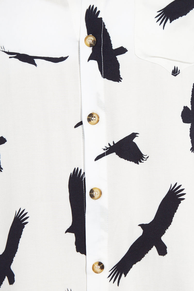 BOYS + ARROWS It's Not You It's Me Dress - Blackbird Fly Dress | Blackbird Fly| Boys + Arrows It's Not You It's Me Dress - Blackbird Fly Flatlay View Shirt Dress Mandarin Collar Long Sleeves Button Up Detail 100% Viscose Designed in California
