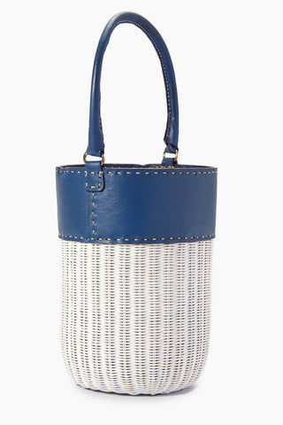 KAYU Lucie Bucket Tote - Navy/White Bag | Lucie Bucket Tote - Navy/White