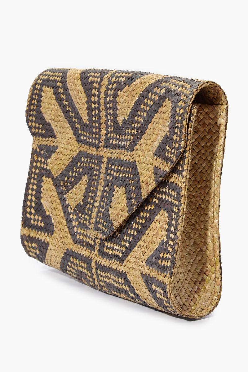 BANAGO Envelope Clutch - Sacred Design Bag | Envelope Clutch - Sacred Design. Features: Envelope Clutch Embroidered Pattern  Magnetic Snap Closure Unlined Made in Philippines