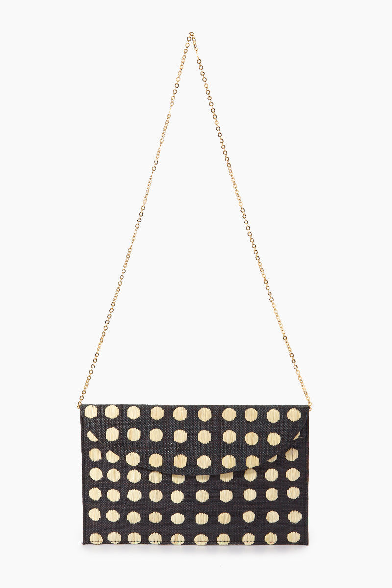 """KAYU Tulum Polka Dot Clutch - Black/White Polka Dots Bag 