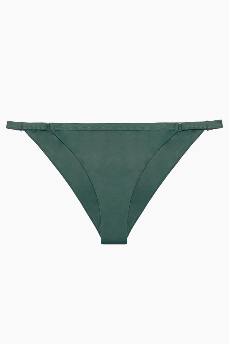 RVCA Solid Medium Bikini Bottom - Mallard Green Bikini Bottom | Mallard Green|Solid Medium Bikini Bottom - Features:  Solid Medium Bikini Bottom Mid rise Moderate coverage Mallard Green color
