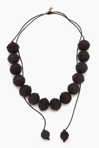INK + ALLOY Leather Beaded Necklace - Black Jewelry | Leather Beaded Necklace - Black. Features:  Black beaded necklace Leather cord Adjustable length Longest wearable length 34""