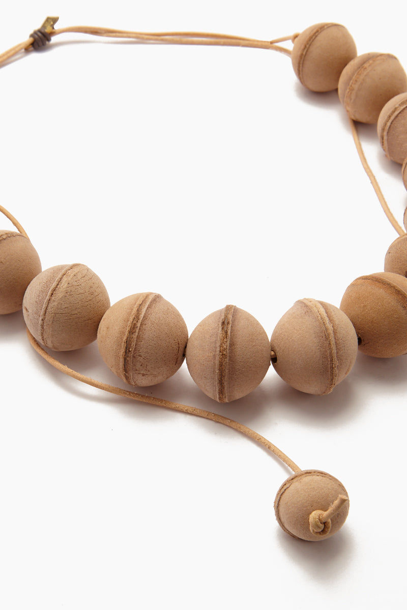 INK + ALLOY Leather Beaded Necklace - Natural Jewelry | Leather Beaded Necklace - Natural. Features:  Natural beaded necklace Leather cord Adjustable length Longest wearable length 34""