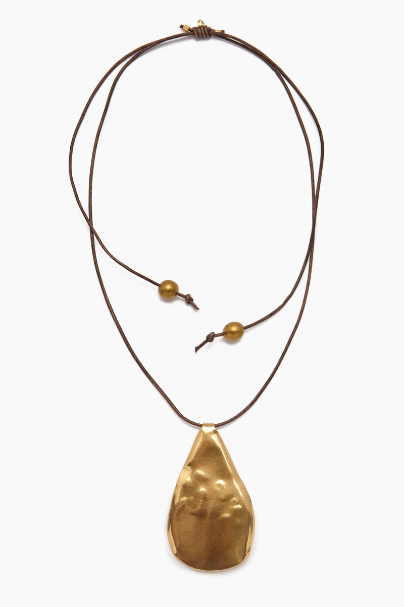 INK + ALLOY Organic Pendant Leather Necklace - Natural Jewelry | Organic Pendant Leather Necklace - Natural