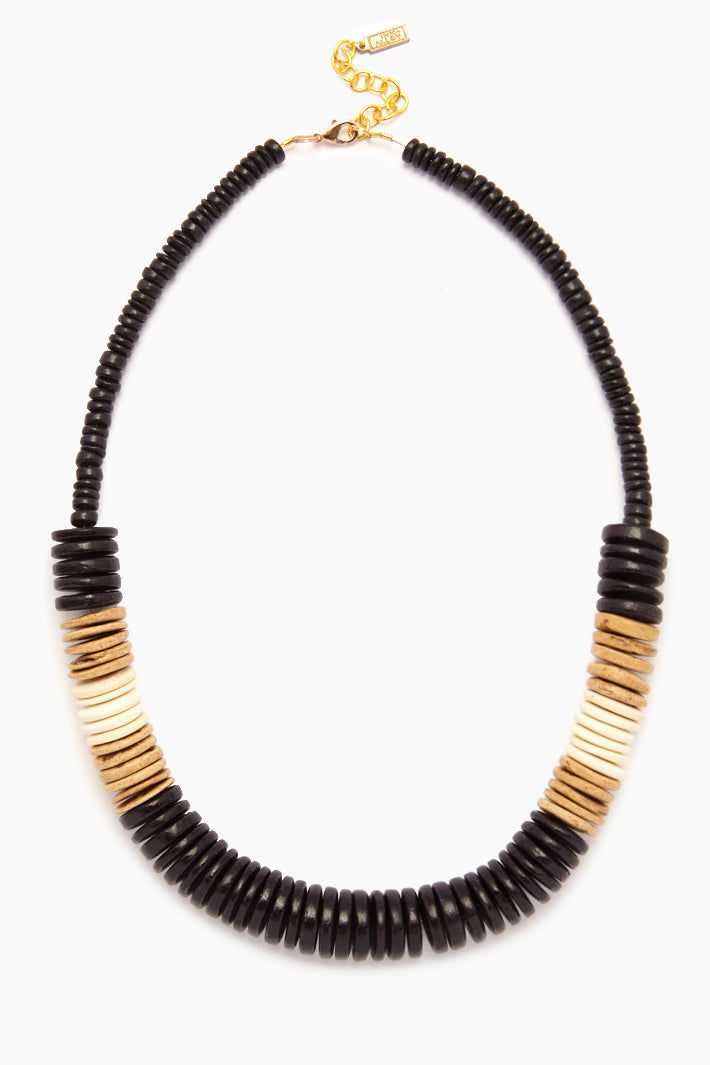 68c1a8d6a9178 INK + ALLOY Black Bold Coconut Pucalet Short Necklace - Natural ...