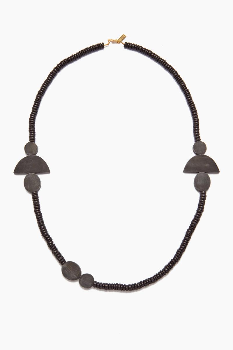 INK + ALLOY Black Horn Geometic Necklace - Black Coconut Jewelry | Black Horn Geometic Necklace - Black Coconut